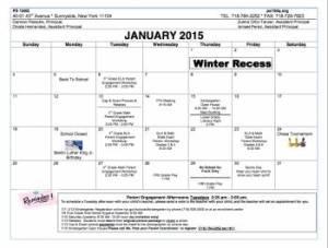 Jan calendar