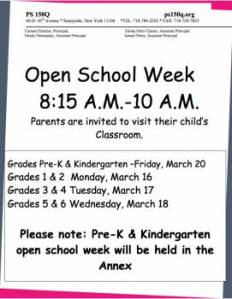 Open School Week