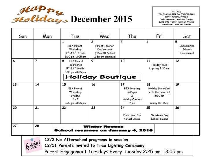 Dec 2015 Calendar