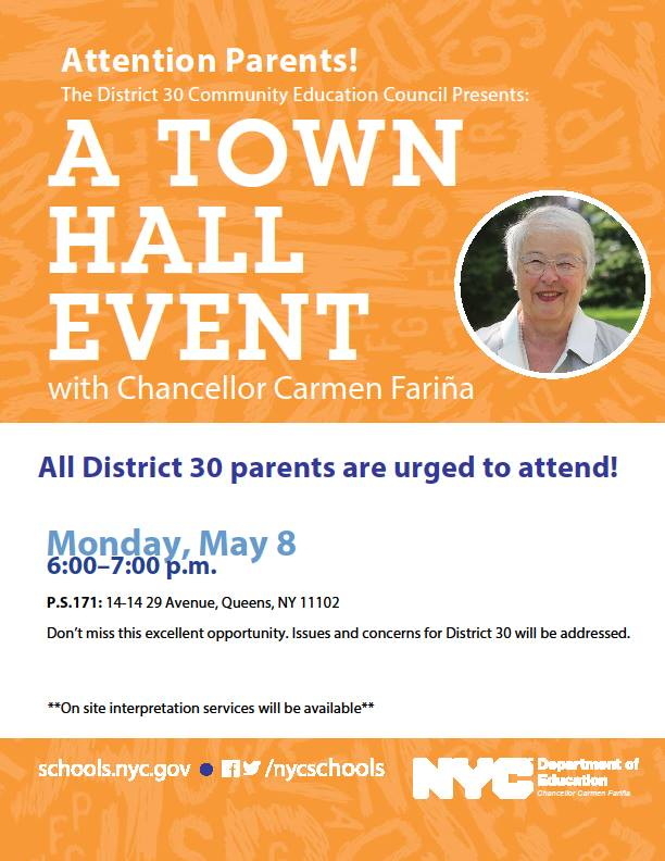 District 30 Town Hall May 8