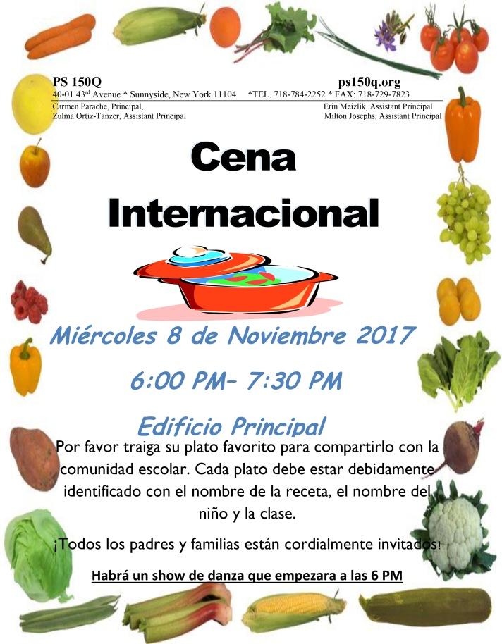 Final Potluck Dinner 2017 Spanish